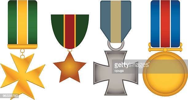 Set of 4 Vector War Medals
