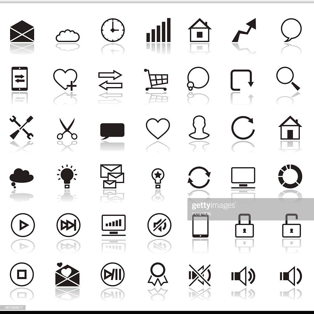 Set of 42 SEO internet icons