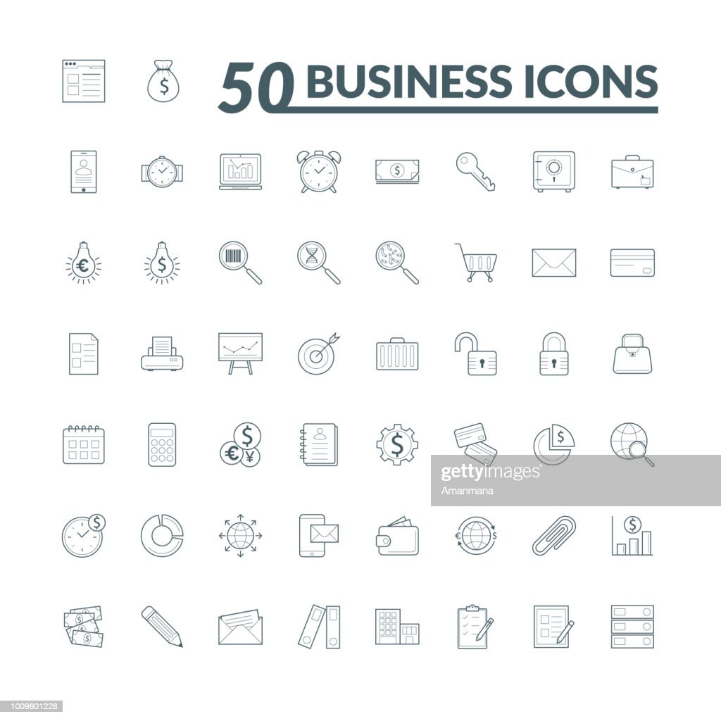 Set of 50 Business Icons