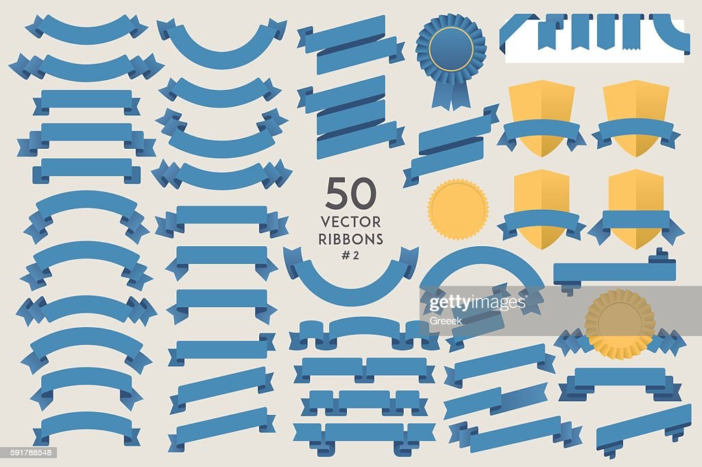 Set of 50 vector Ribbons #2