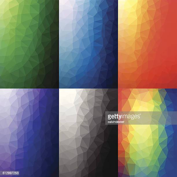Set of 6 geometric abstract backgrounds