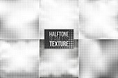 Set of 6 halftone seamless vector backgrounds