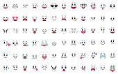 Set of 72 different pieces of emotions