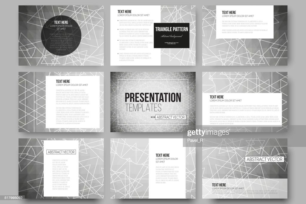 Set Of 9 Vector Templates For Presentation Slides Sacred Geometry Art