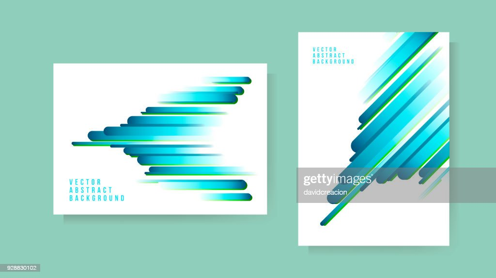 Set of Abstract Background . Template for your Design . Isolated Vector Illustration