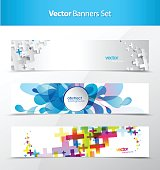 Set of abstract banner and card backgrounds.