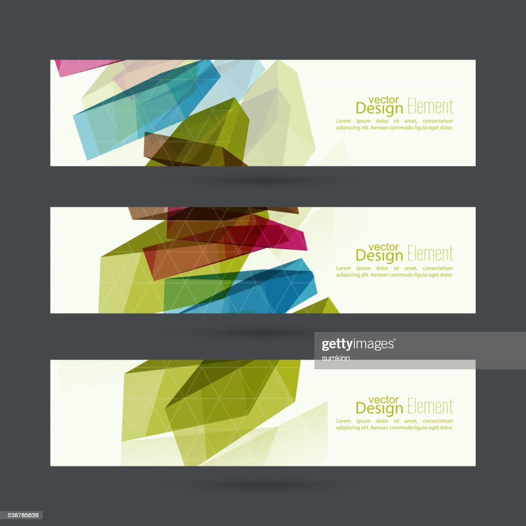 Set of abstract banners. header.