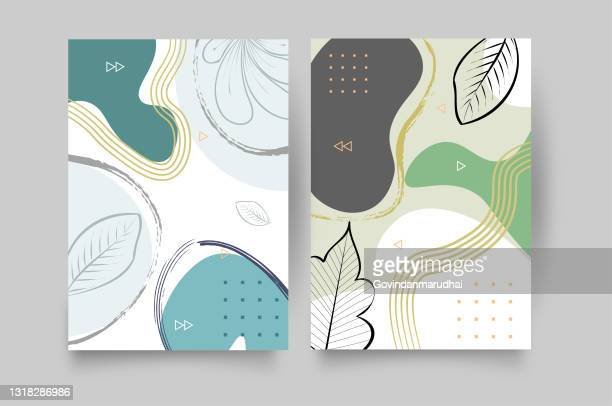 set of abstract creative artistic templates, trendy abstract universal template for promotion sale. able to use for social media posts, stories, mobile apps, banners design, web or internet ads - collagen stock illustrations