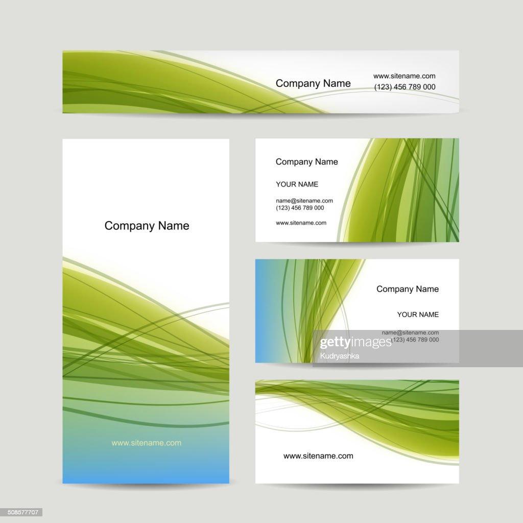 Set of abstract creative business cards design : Vektorgrafik