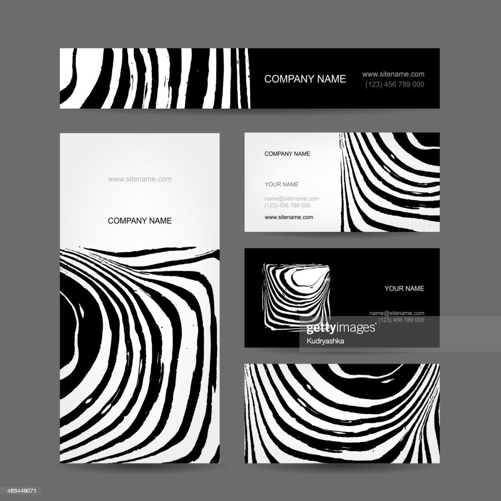 Set of abstract creative business cards zebra print design vector set of abstract creative business cards zebra print design vector art reheart Choice Image