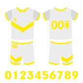 set of abstract football jerseys. Vector Illustration eps 10