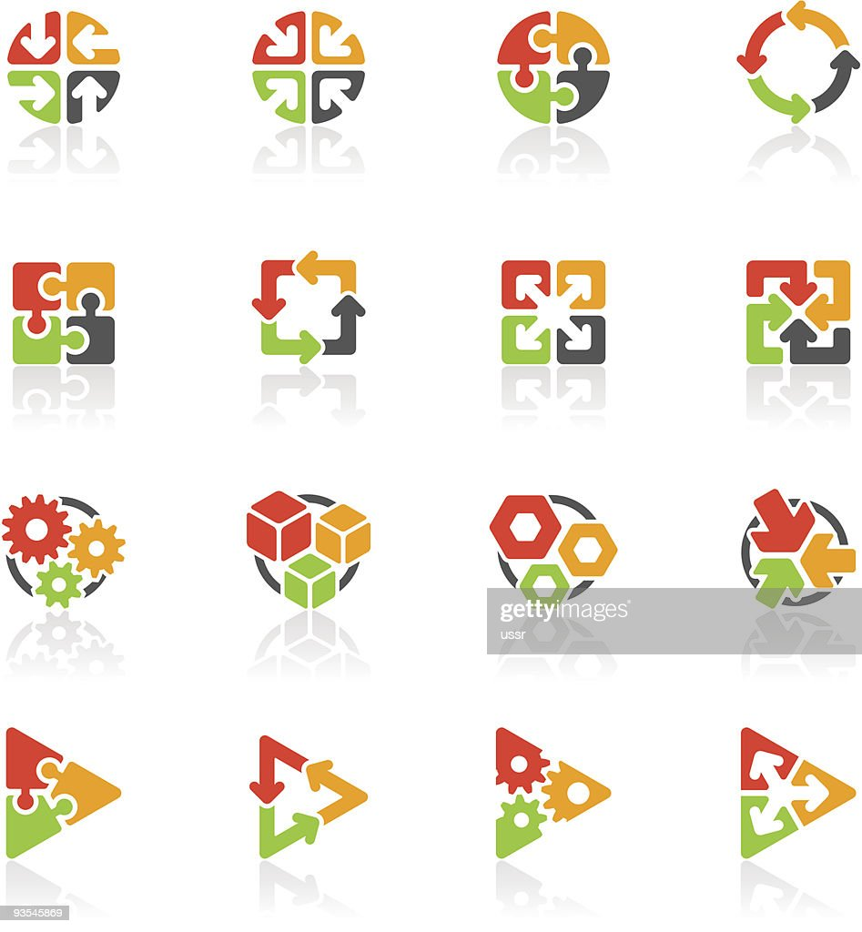 Set of abstract geometric icons