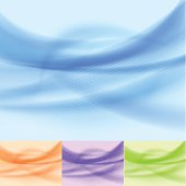 Set of abstract multicolored waves