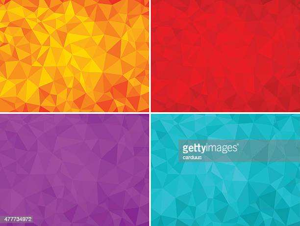 set of abstract  polygonal  backgrounds