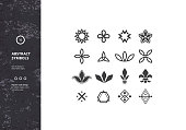 Set of Abstract Symbols and Graphic Elements