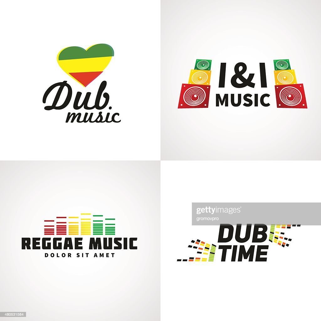 Set of africa flag design. Jamaica music vector template : Vector Art