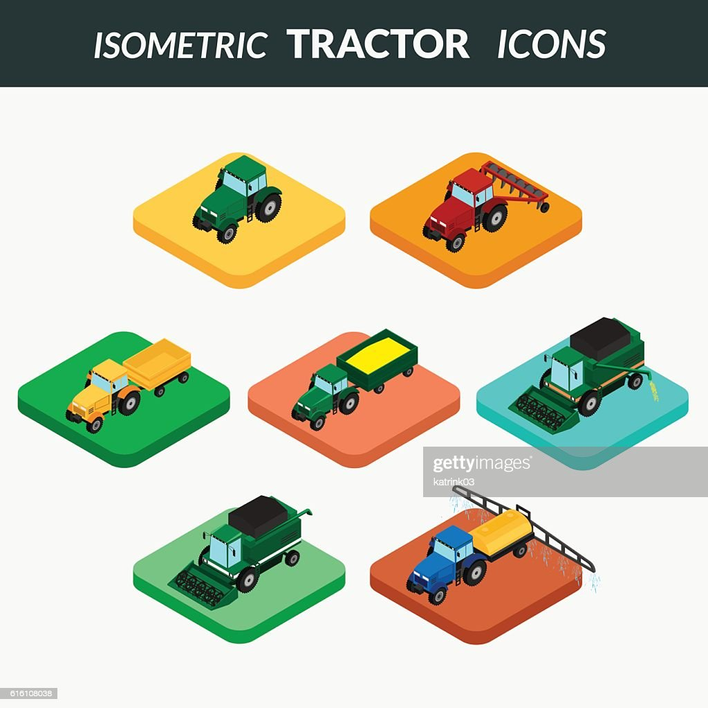 set of agricultural icons.