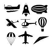 set of air transports set. Vector.
