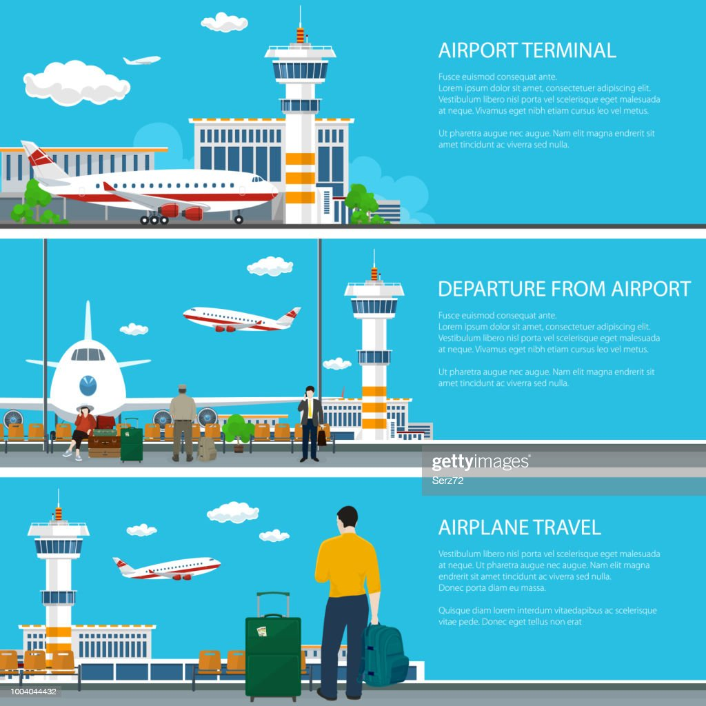 Set of Airport Banners