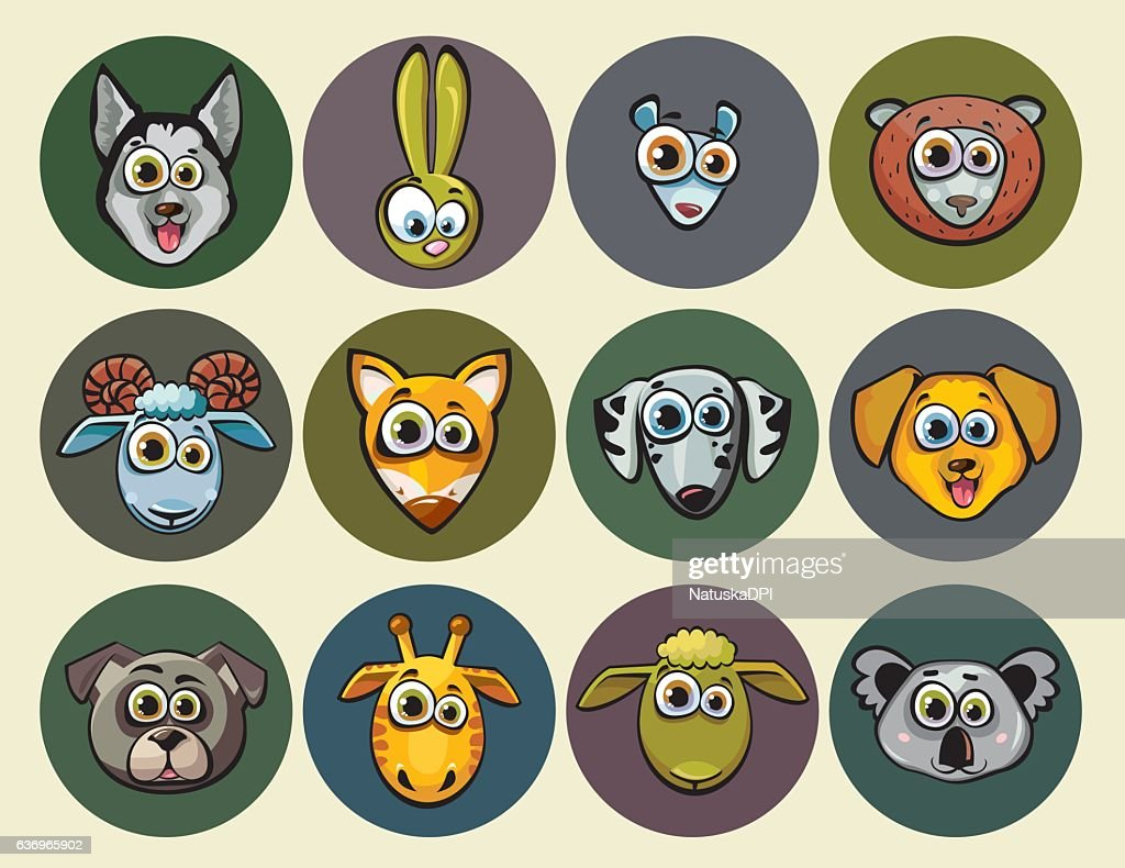 Set of animal icons.