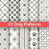 Set of animal seamless vector pattern