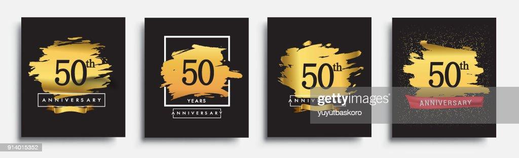 Set of Anniversary logo