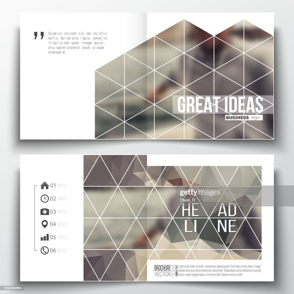 Set of annual report business templates for brochure, magazine, flyer