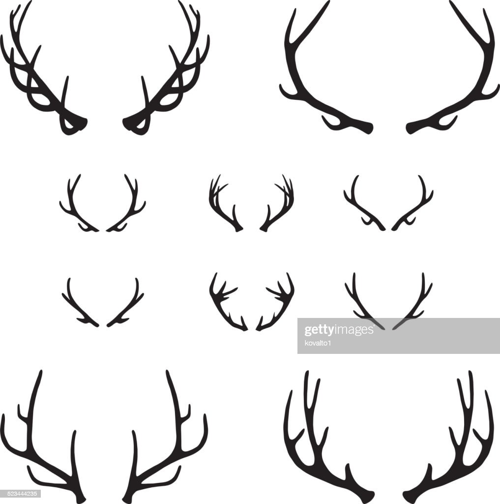Set of antlers, silhouette