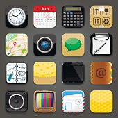 Set of app vector icons