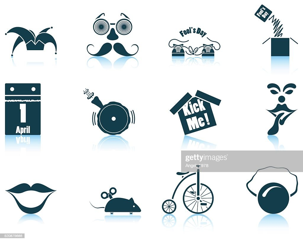 Set of April Fool's day icons
