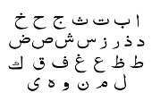 set of Arabic alphabet  , vector