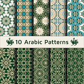 Set of arabic seamless patterns.