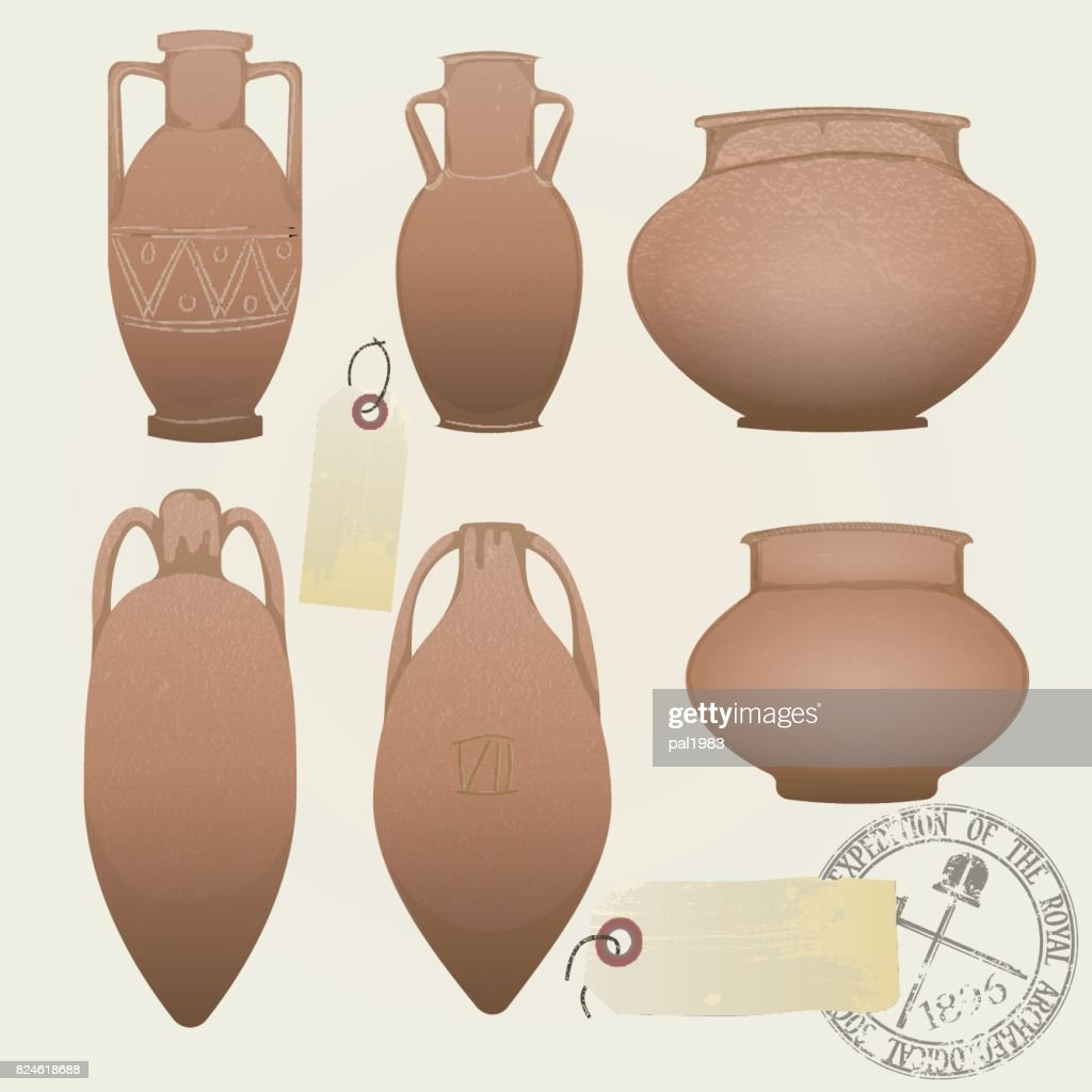set of archaeological objects