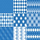 Set of argyle seamless pattern