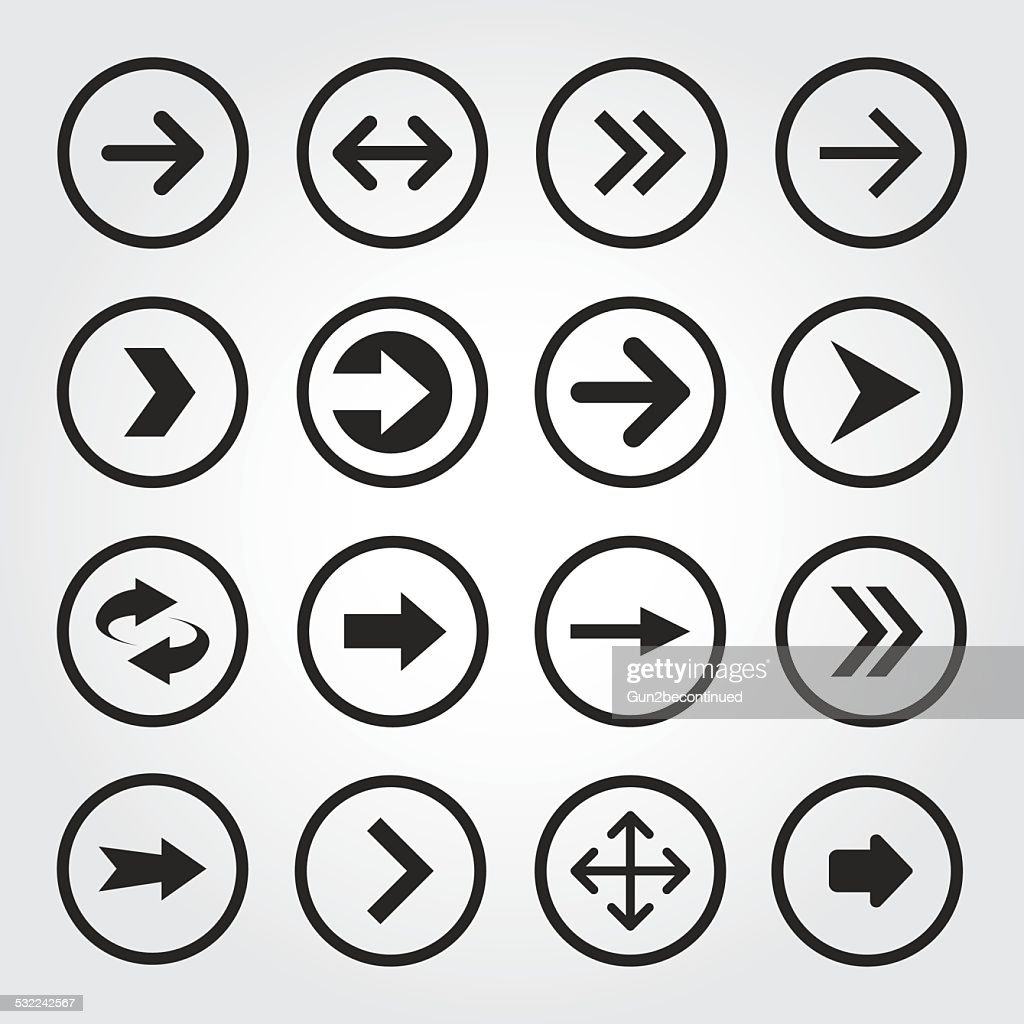 Set of Arrow icon, Vector illustration