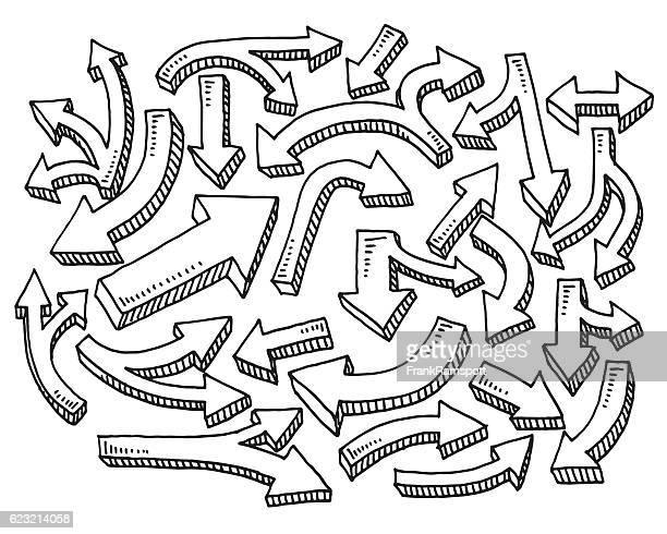 Satz Pfeile zeichnen