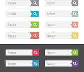 Set of assorted flat search bars
