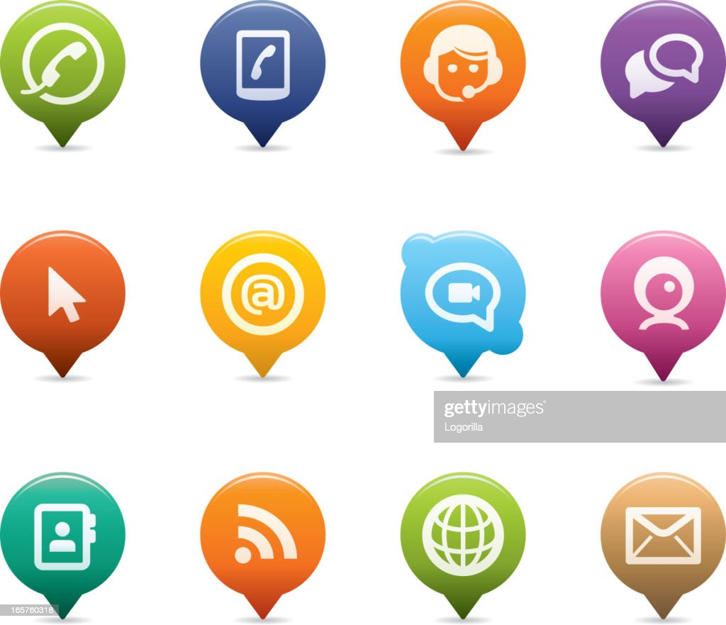 Set of assorted internet and web communication icons