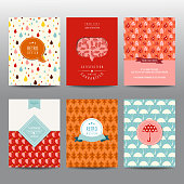 Set of Autumn Brochures and Cards - vintage layouts