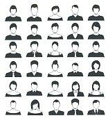 Set of Avatar flat Icons - Illustration