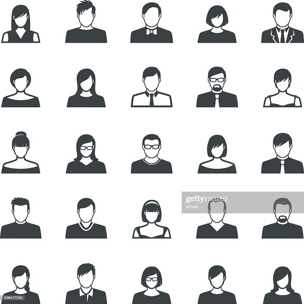 Set of Avatar Flat Icons : stock illustration