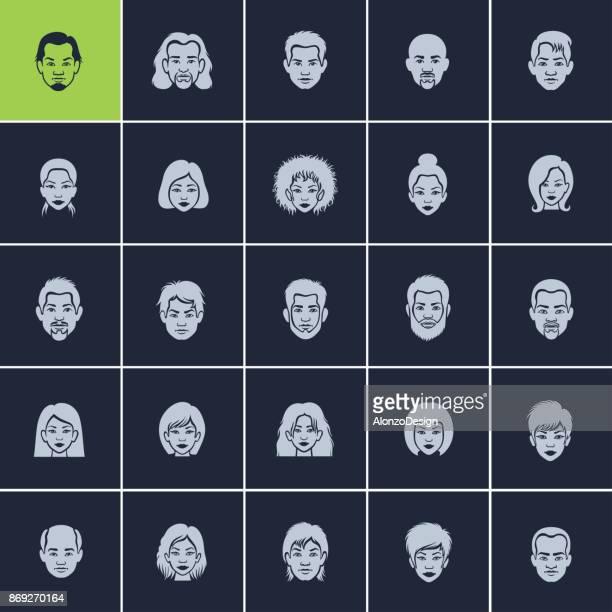 Set of Avatar Flat Icons
