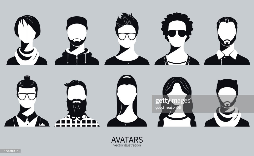 Set of Avatar vector illustration icons