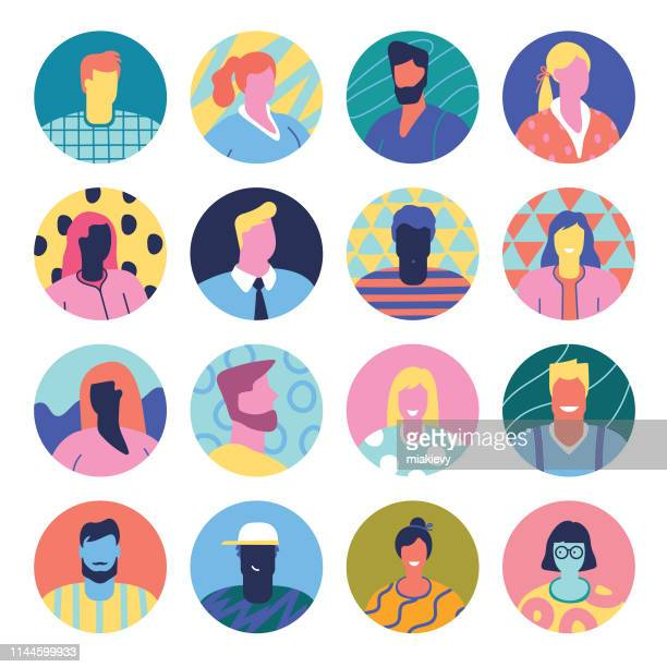 set of avatars - employee stock illustrations