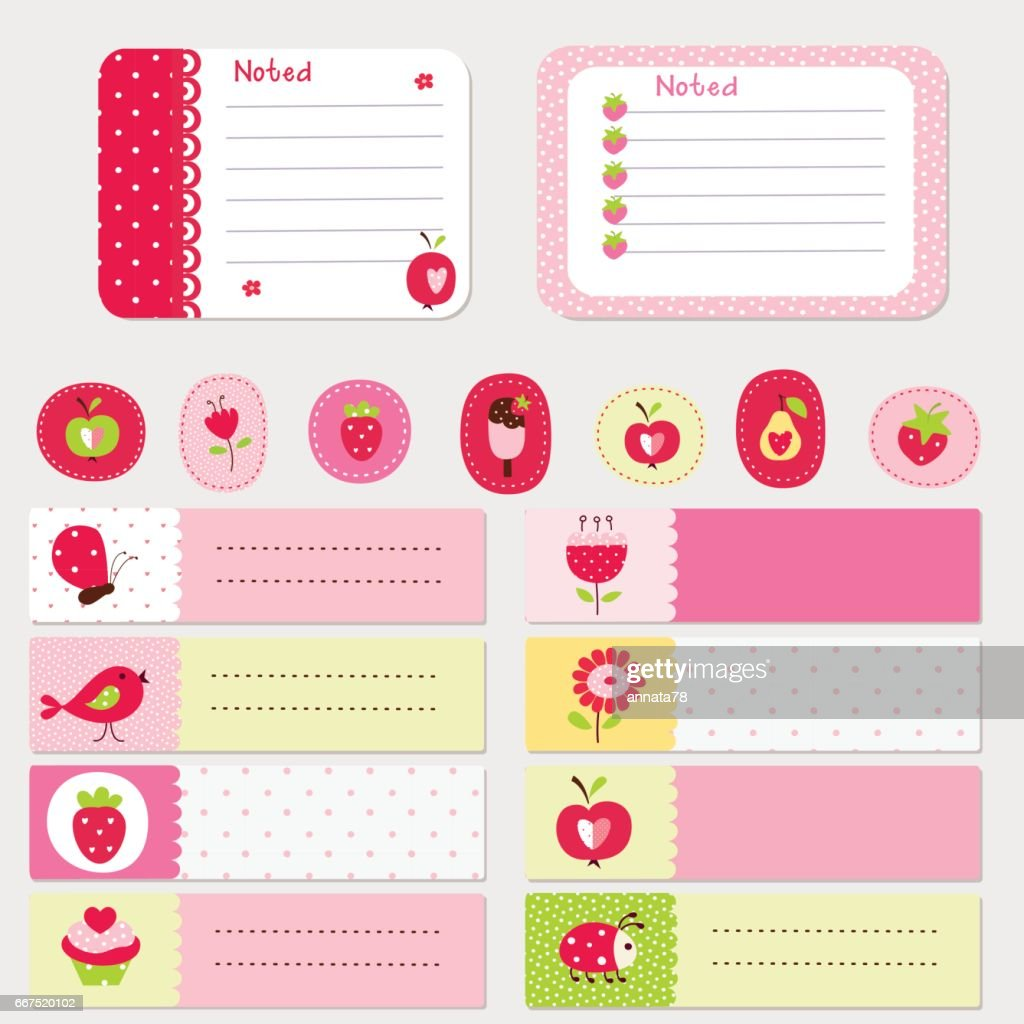 Set of baby cards and templates