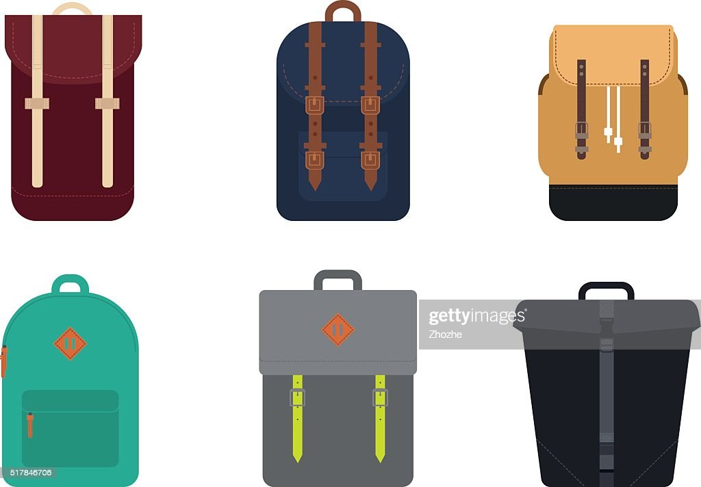 Set of backpacks.