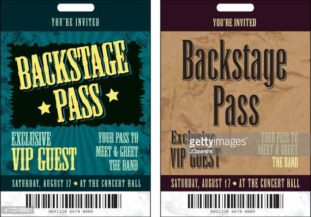 Set of Backstage Pass template designs