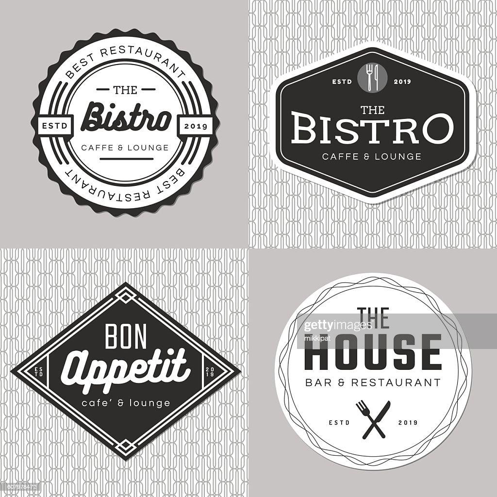 Set of badges, banner, labels, logo for food restaurant, catering.