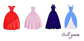 A set of ball gowns