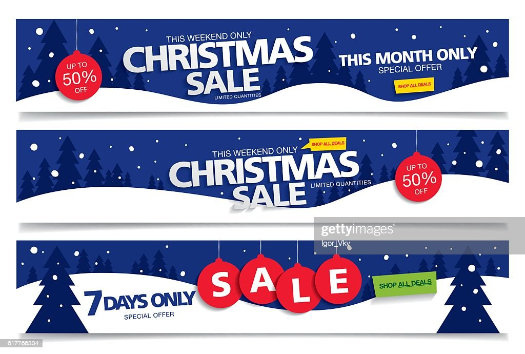 Set of banners Christmas sale